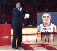 Yao Ming's jersey has officially been retired! What's your favorite Yao Ming memory?: JAD MINI  ERSEYRETIREMEN  ROCKETS Yao Ming's jersey has officially been retired! What's your favorite Yao Ming memory?
