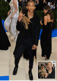 Jaden Smith... holding his own dreads.. on the red carpet.: Jaden Smith... holding his own dreads.. on the red carpet.