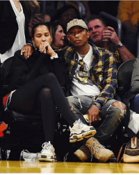 JadenSmith and his girl last night at the Lakers game.: JadenSmith and his girl last night at the Lakers game.