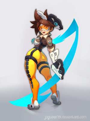 jaguare19:    A little fan art of Tracer from Overwatch. A little self-gift for my birthday :3   : jaguageng.deulanbant.com jaguare19:    A little fan art of Tracer from Overwatch. A little self-gift for my birthday :3
