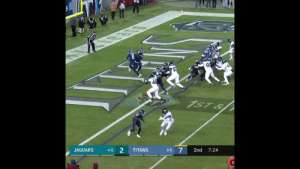 Memes, Run, and 🤖: JAGUARS 48 2 TITANS  6-6 7 2nd 7:24 Was @KingHenry_2's 99-yard TD the run of the year? 💪 https://t.co/lk44HaAwta