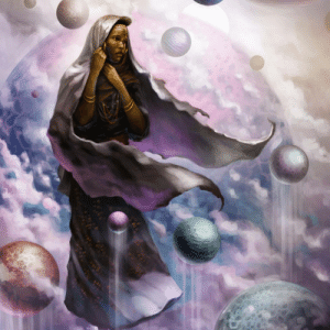 "Instagram, Love, and Target: jahbu-art:  Suspended above placid waters. A Wodaabe woman over looks a sea of floating planets.  Here are some detail shots for my ""Wodaabe - Mother of Worlds"" painting. Let me know what you guys think!  Framed prints at Jahbu.com  Much love to @nubiamancy_  for featuring this painting!    #africanart #dopeblackart #blackart365 #blackartists #wakanda #newartists #africanamericanart #illustration #blackartmatters #wodaabe #africantribes #tribalart #spaceart #blackartistspace #myartstyle #myillustration #africanwoman #blackwomanmagic #blackhistorymonth   https://www.instagram.com/p/BuCpnrxlyy5/?utm_source=ig_tumblr_share&igshid=w4bpxkopbbt7"