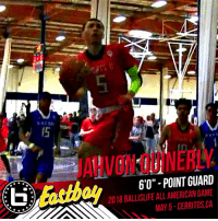 """RT @Eastbay: Welcome to the @Ballislife All-American roster @RealJahvonQ! 🍇🍇🍇 https://t.co/zmknmKhrFX: JAHVON QUINERLY  6'O""""- POINT GUARD  2018 BALLISLIFE ALL AMERICAN GAME  MAY 5-CERRITOS,CA RT @Eastbay: Welcome to the @Ballislife All-American roster @RealJahvonQ! 🍇🍇🍇 https://t.co/zmknmKhrFX"""