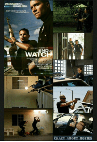 Released 2012: JAKE GYLLENHAAL  MICHAEL PENA  EVERY MOMENT OF YOUNILE  TRAINING DAY  END a  WATCH  WATCH YOUR SIX  SEPTEMBER 28  CRAZY ABOUT MOVIES Released 2012