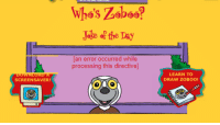 "Reddit, Com, and Day: Jake of the Day  an error occurred while  processing this directive  LEARN TO  DRAW ZOBOO!  SCREENSAVER! <p>[<a href=""https://www.reddit.com/r/surrealmemes/comments/8rj2ci/w_h_o_i_s_z_o_b_o_o/"">Src</a>]</p>"