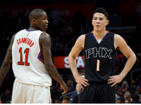 Memes, 🤖, and Jamal Crawford: Jamal Crawford & Devin Booker! https://t.co/66AS1Omklw