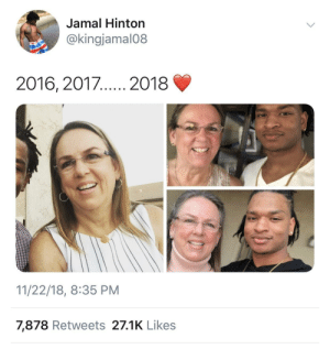 Dank, Life, and Memes: Jamal Hinton  @kingjamal08  2016, 2017  2018  11/22/18, 8:35 PM  7,878 Retweets 27.1K Like:s This is the kinda positivity I need in my life right now by kingtah MORE MEMES
