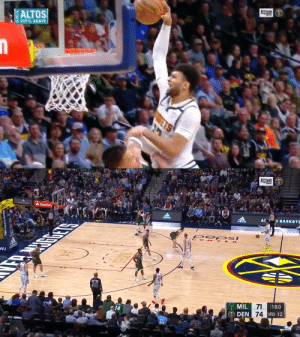 Jamal Murray with the nasty facial! Still can't believe the refs called an offensive foul. https://t.co/IiJ2X1EYwU: Jamal Murray with the nasty facial! Still can't believe the refs called an offensive foul. https://t.co/IiJ2X1EYwU