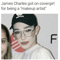 "Memes, Twins, and 🤖: James Charles got on covergirl  for being a ""makeup artist""  as LMAOOO SWIPE IT @jamescharles found ya twin"