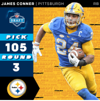 Memes, Dick, and Pittsburgh: JAMES CONNER PITTSBURGH  DRAFT  2017  DICK  105  STIEF  RAFT  Steelers  STEELERS  ACC  RB  DRAFT  AFT  RAI Staying in Pittsburgh!  The @Steelers select @Pitt_FB RB @JamesConner_ with the 105th overall pick! #NFLDraft https://t.co/mZjqXvJrGC