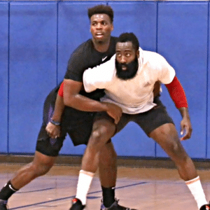 James Harden & Buddy Hield pulled up to @RicoHinesBball and A LOT of BUCKETS were served! @buddyhield @JHarden13 https://t.co/zo3iANnqjQ: James Harden & Buddy Hield pulled up to @RicoHinesBball and A LOT of BUCKETS were served! @buddyhield @JHarden13 https://t.co/zo3iANnqjQ