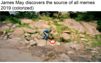 Apple, Funny, and James May: James May discovers the source of all memes  2019 (colorized)  u/Liam Apple