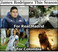 James Rodriguez.: James Rodriguez This Season  For Real Madrid  For Colombia James Rodriguez.