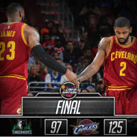 FINAL: Your Cleveland Cavaliers defeat the Minnesota Timberwolves, 125-97!  LeBron James: 27pts, 12ast, 8reb, 2stl, 1blk Kyle Korver: 20pts, 2ast, 1blk Tristan Thompson: 18pts, 14reb, 2blk, 1stl Channing Frye: 18pts, 4reb, 2blk, 1stl Kyrie Irving: 14pts, 14ast, 2reb, 1stl  HIGHLIGHTS: bit.ly/ClutchPoints: JAMES  TIMBERWOWES  CEWELANI FINAL: Your Cleveland Cavaliers defeat the Minnesota Timberwolves, 125-97!  LeBron James: 27pts, 12ast, 8reb, 2stl, 1blk Kyle Korver: 20pts, 2ast, 1blk Tristan Thompson: 18pts, 14reb, 2blk, 1stl Channing Frye: 18pts, 4reb, 2blk, 1stl Kyrie Irving: 14pts, 14ast, 2reb, 1stl  HIGHLIGHTS: bit.ly/ClutchPoints