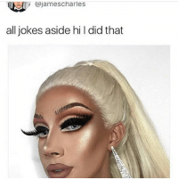 Drag is supposed to be ott and I actually love this, even though idfw him that much (he said the dragon thing about himself 🙄): , @jamescharles  all jokes aside hi l did that Drag is supposed to be ott and I actually love this, even though idfw him that much (he said the dragon thing about himself 🙄)
