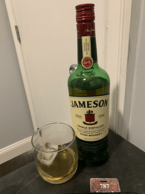 Irish, Love, and Smooth: JAMESO  SON  S-P  KIMITED  JAMESON  ESTD  1780  TRIPLE DISTILLED  SMOOTH IRISH WHISKEY MADE THE  JOHN JAMESON WAY SINCE 1780  IRISH WHISKEY  PRODUCT OF IRELAND  ohm fauceson  787  DISTILLED  MATURED&BOTTLED  IN IRELAND  JоHN My building got hit by a helicopter yesterday and I had to evacuate down 45+ flights of stairs. Always remember to tell the people you care about that you love them. You never know when it's the last time you'll see them. I love you guys!