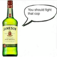 Fathers Day, Irish, and Love: JAMESON  IRISH WHISKEY  You should fight  that cop Happy Fathers Day to all you shitpickles, and as a public service reminder, having a drink is perfectly acceptable... but when the alcohol starts doing the talking it's time to call it a night!  Love, (Rich)