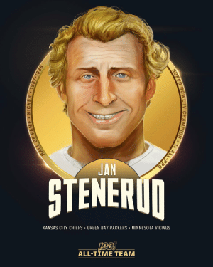 Jan Stenerud is one of the 6 specialists selected to the #NFL100 All-Time Team!  👟 1991 Pro Football Hall of Fame inductee 👟 1970 All-Pro, 6x Pro Bowl selection 👟 Super Bowl IV Champion 👟 Career: 373 FG made (558 attempts), 1,699 points scored https://t.co/1vwt9JGSxF: JAN  STENERUN  KANSAS CITY CHIEFS · GREEN BAY PACKERS · MINNESOTA VIKINGS  ALL-TIME TEAM  HALL OF FAME • KICKER 1967-1985  SUPER BOWL IV CHAMPION • 1x ALL-PRO Jan Stenerud is one of the 6 specialists selected to the #NFL100 All-Time Team!  👟 1991 Pro Football Hall of Fame inductee 👟 1970 All-Pro, 6x Pro Bowl selection 👟 Super Bowl IV Champion 👟 Career: 373 FG made (558 attempts), 1,699 points scored https://t.co/1vwt9JGSxF