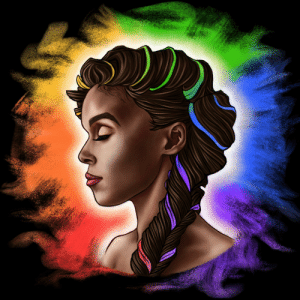 Janelle Monae, Happy, and How: Janelle Monae drawn for Pride Month. I'm pretty happy with how it turned out!