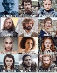 Birthday, Memes, and April: JANUARY  FEBRUARY  MARCH  JUNE  APRIL  MAY  JULY  AUGUST  SEPTEMBER  OCTOBER NOVEMBER DECEMBER Based on your birthday, Which character are you? 😊