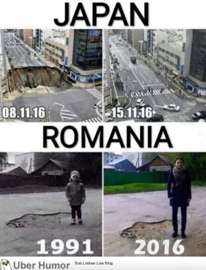 failnation:  Things don't change that that fast in Romania: JAPAN  08.11.16  15.11.16  ROMANIA  1991  2016  Uber Humor Bob Loblaw Law Blog failnation:  Things don't change that that fast in Romania