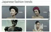 Meme Trends: Japanese fashion trends  1910s  194DS  1930s  1950s