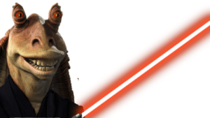 Jar jar but every day he becomes a more powerful sith (day 1, he got a lightsaber and robe): Jar jar but every day he becomes a more powerful sith (day 1, he got a lightsaber and robe)