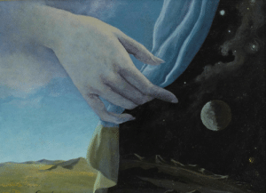 jareckiworld:  Helen Lundeberg  -  The Veil   (oil on board,  1947): jareckiworld:  Helen Lundeberg  -  The Veil   (oil on board,  1947)