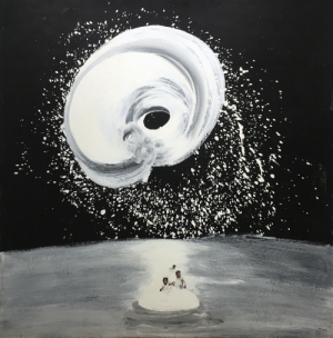 jareckiworld:Petr Belenok  —   Snow Funnel    (oil and collage on hardboard, 1980): jareckiworld:Petr Belenok  —   Snow Funnel    (oil and collage on hardboard, 1980)