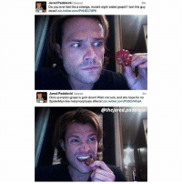 Memes, Twitter, and Metamorphosis: Jared Padalecki arpad  Do you ever feel like a strange, mutant eight-sided grape? 1 bet this guy  does!! pic.twitter.com/Pr64EU70P6  22s  Jared Padalecki jarpad  Octo-pumpkin-grape is goin down! Wish me luck, and lets hope for no  SpiderMan-like metamorphosis effects! pic.twitter.com/PcBCrNFjeA  2m  @thejared.padalecki Teenage mutant ninja grape 👌🏻