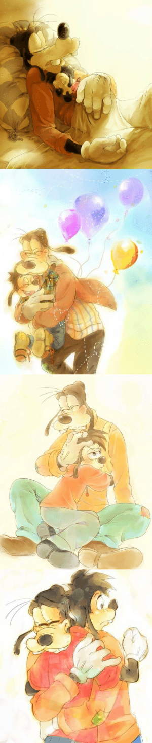 Family, Tumblr, and Blog: jashinslayer:  Goofy is a widower whose only family and reminder of his wife is his son Max.X