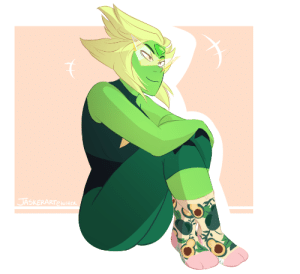 Target, Tumblr, and Avocado: jasker:  i got these avocado socks at target the other day and i felt like they were perfect for peridot 🥑🛸