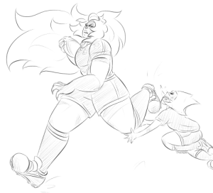 Cute, Tumblr, and Blog: JASKER jasker:  @airyairyquitecontrary did you say rugby jasper?!see, but pearls never seen that cute fluffy cheerleader doin what she does on the field, and once she does OHHH BOY