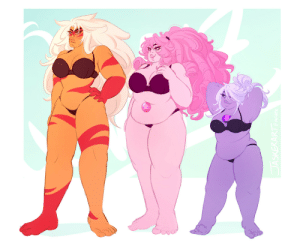Tumblr, Blog, and Haha: jasker:  some quartz body types?! i mostly wanted to practice pudge and tiddies haha 💕
