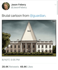 nobodylovesanihilist:  weavemama: weavemama: the guardian ain't taking prisoners from the racist White House and I'm here for it btw the artist for this brilliant design is Ben Jennings, an award winning cartoonist. after seeing this drawing i will never look at the white house the same again…..   it was built by slaves..: Jason Febery  @JasonFebery  Brutal cartoon from @guardian.  8/14/17, 5:05 PM  28.4K Retweets 48.4K Likes nobodylovesanihilist:  weavemama: weavemama: the guardian ain't taking prisoners from the racist White House and I'm here for it btw the artist for this brilliant design is Ben Jennings, an award winning cartoonist. after seeing this drawing i will never look at the white house the same again…..   it was built by slaves..