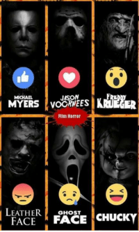 Who's your favorite?: JASON  MICHAEL  MYERS VOORMEES  FIlm Horror  LEATHER  GHOST  CHUCKY  FACE  FACE Who's your favorite?