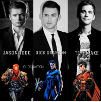 Batman, Memes, and Superman: JASON ODD DICK G  D A  ON TIM AKE  IGI DC NATION From @dc_nation_universe - Personal Dream cast for the Robins. Milo ventimiglia As NIGHTWING. Taron egerton As RED HOOD. Logan Lerman As RED ROBIN. ----- Who would be your dream cast ? dc dccomics dceu dcu dcrebirth dcnation dcextendeduniverse batman superman manofsteel thedarkknight wonderwoman justiceleague cyborg aquaman martianmanhunter greenlantern theflash greenarrow suicidesquad thejoker harleyquinn comics injusticegodsamongus