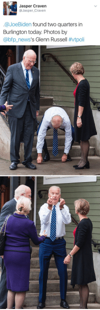 0phelia-gr3y:  donutmongoose:  gayerthangrantaire: its the cash Biden reblog in 30 seconds for money in your future   i: Jasper Craven  @Jasper_Craven  @JoeBiden found two quarters in  Burlington today. Photos by  @bp.news's Glenn Russell 0phelia-gr3y:  donutmongoose:  gayerthangrantaire: its the cash Biden reblog in 30 seconds for money in your future   i