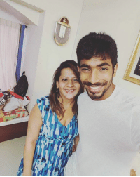 Jasprit Bumrah spending his off-time with family.: Jasprit Bumrah spending his off-time with family.