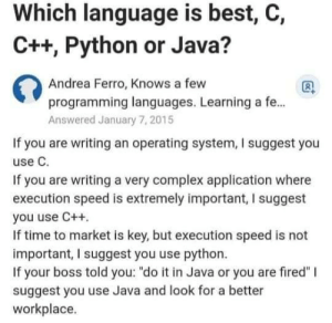 Java is the best: Java is the best