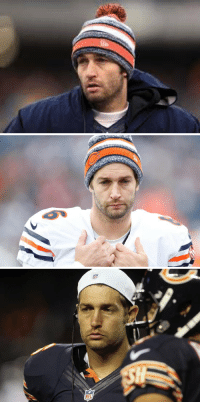 Jay Cutler always looks like the before guy in every cold & flu remedy commercial.: Jay Cutler always looks like the before guy in every cold & flu remedy commercial.