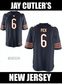 Expect to see Jay Cutler rocking this Week 11.: JAY CUTLER'S  PICK  CONFLMEMEL  NEW JERSEY Expect to see Jay Cutler rocking this Week 11.