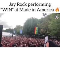 "America, Friends, and Jay: Jay Rock performing  WIN"" at Made in America >  (C jayrock underrated ❓ Follow @bars for more ➡️ DM 5 FRIENDS"