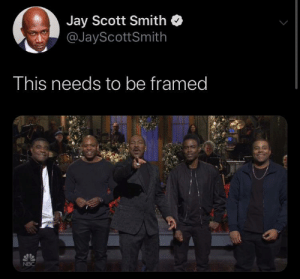 Black excellence ✊🏾👌🏾🙌🏾: Jay Scott Smith  @JayScottSmith  This needs to be framed  NBC Black excellence ✊🏾👌🏾🙌🏾