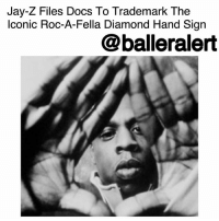 Jay, Jay Z, and Memes: Jay-Z Files Docs To Trademark The  lconic Roc-A-Fella Diamond Hand Sign  @balleralert Jay-Z Files Docs To Trademark The Iconic Roc-A-Fella Diamond Hand Sign - blogged by @MsJennyb ⠀⠀⠀⠀⠀⠀⠀ ⠀⠀⠀⠀⠀⠀⠀ Earlier this week, JayZ filed new docs to obtain the rights for a new restaurant through his company, S. Carter Enterprises. Then the music mogul reportedly filed docs to secure the rights to the Paper Planes brand and logo, in an effort to expand to the retail market. ⠀⠀⠀⠀⠀⠀⠀ ⠀⠀⠀⠀⠀⠀⠀ Now, according to TMZ, the Brooklyn-bred rapper has just filed docs to lock down exclusive rights to the Roc-A-Fella diamond hand sign. ⠀⠀⠀⠀⠀⠀⠀ ⠀⠀⠀⠀⠀⠀⠀ Hov has flashed the iconic hand symbol for years to represent his legendary record label, Roc-A-Fella records. However, the rapper never made his ownership official. In fact, back in 2005, Jay-Z was sued over the hand sign in a matter that was settled out of court. ⠀⠀⠀⠀⠀⠀⠀ ⠀⠀⠀⠀⠀⠀⠀ But, according to TMZ, even after the lawsuit, Page never trademarked the sign for himself, so now, Jay-Z is moving forward with the process.