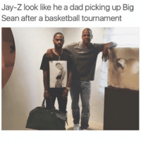 Ass, Bad, and Basketball: Jay-Z look like he a dad picking up Big  Sean after a basketball tournament I remember I played for my middle school basketball team and I went for a rebound and my dumbass teammate who taller than me came right behind me and grabbed that shit out my hands and in the process of him doing this he knocked my ass over mid air and I busted my ass in front of everyone. Nigga we on the same team tf is you doing bruh. And the bad part is I didn't even fall straight down I did the fall where you keep walking into the point you just fall down, basically I stumbled to my fatality. I never felt more like a bitch then when he did that to me.