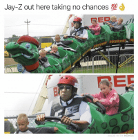 Funny, Jay, and Jay Z: Jay-Z out here taking no chances  ER  MADE WITH MOMUS This is the funniest meme I think I've ever seen (@adam.the.creator)