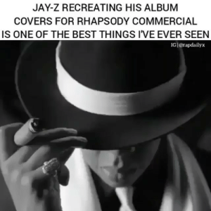 Incredible @royceda59 justakidfromthechi: JAY-Z RECREATING HIS ALBUM  COVERS FOR RHAPSODY COMMERCIAL  IS ONE OF THE BEST THINGS I'VE EVER SEEN  IG|@rapdailyx Incredible @royceda59 justakidfromthechi