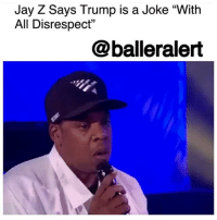 "Donald Trump, Drugs, and Friday: Jay Z Says Trump is a Joke ""With  All Disrespect""  @balleralert Jay Z Says Trump is a Joke ""With All Disrespect"" – blogged by @MsJennyb (video @bbcradio1) ⠀⠀⠀⠀⠀⠀⠀ ⠀⠀⠀⠀⠀⠀⠀ On the heels of the release of his most personal album to date, Jay-Z has been sitting down for interviews to divulge his thought process throughout the making of the highly anticipated album, ""4:44."" ⠀⠀⠀⠀⠀⠀⠀ ⠀⠀⠀⠀⠀⠀⠀ In his most recent interview with BBC Radio 1 on Friday, JayZ discussed his views on Donald Trump after having campaigned for both BarackObama and HillaryClinton in past elections. As Trump continues to reverse Obama-era legislations, alongside Jeff Sessions, who is eager to reignite the war on drugs, Jay Z shared his thoughts on Trump and the current state of politics. ⠀⠀⠀⠀⠀⠀⠀ ⠀⠀⠀⠀⠀⠀⠀ ""I believe that we are resilient, especially us as black people and especially the culture. We've been through so much more than this guy,"" he said. ""This guy, I'm looking at him like, man, this is a joke, with all – I can't even say with all due respect – with all disrespect."" ⠀⠀⠀⠀⠀⠀⠀ ⠀⠀⠀⠀⠀⠀⠀ ""Until everyone is free, no one is free,"" Jay added. ""Period. That's just a fact. We are all linked some kind of way. So if you oppress a certain people, everyone is in danger, karmically and in real life. If I'm being oppressed and you have this big, nice mansion, I'm coming inside there. That's going to happen, that's just how life is."" ⠀⠀⠀⠀⠀⠀⠀ ⠀⠀⠀⠀⠀⠀⠀ Although the country is struggling with racial injustices and increased hate crimes in the wake of the Donald Trump era, Hov believes it is something that we, as a nation and culture, can overcome. ⠀⠀⠀⠀⠀⠀⠀ ⠀⠀⠀⠀⠀⠀⠀ ""I don't think that this is happening if we weren't prepared to handle it,"" he said. ""I'm just looking forward to what's next after that, because usually when things are darkest, then light is on its way. I'm not fearful."""