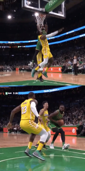 Jaylen Brown dunks on the King👀 https://t.co/oKAPVOMsX5: Jaylen Brown dunks on the King👀 https://t.co/oKAPVOMsX5
